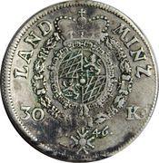 30 kreuzer Maximilian III Joseph – revers