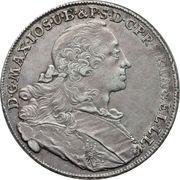 1 Thaler - Maximilian III Josef – avers
