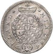 30 kreuzer Maximilian II – revers