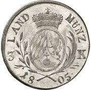 3 kreuzer Maximilian IV, Josef – revers