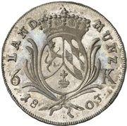 6 kreuzer - Maximilian I Joseph – revers