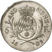 6 Kreuzer Maximilian I Joseph – revers