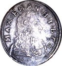 3 kreuzer Maximilian II. Emanuel – avers