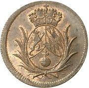 2 pfennig Karl Theodor – avers