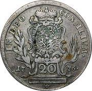 20 kreuzer - Maximilian III Joseph – revers