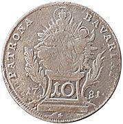 10 kreuzer Karl IV Theodor (Konventionskreuzer) -  revers