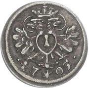 1 Pfennig - Maximilian II. (Austrian Administration) – avers