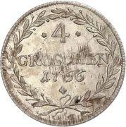 4 Groschen - Maximilian III. – revers