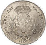 1 Konventionsthaler - Maximilian IV. – revers