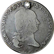 1 Thaler - Maximilian I Joseph (Konventionstaler) – avers
