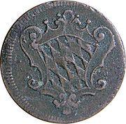 1 Pfennig - Maximilian III Joseph -  avers