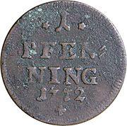 1 Pfennig - Maximilian III Joseph – revers