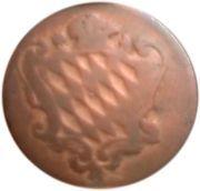 1 pfennig Karl Theodor – avers