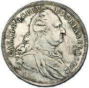 1 thaler Karl Theodor -  avers