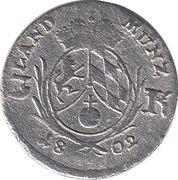 3 Kreuzer - Maximilian IV, Josef – revers
