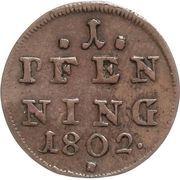 1 Pfenning - Maximilian IV, Josef – revers