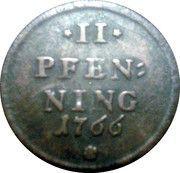 2 pfenning Maximilian III Joseph – revers