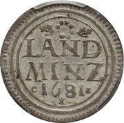 10 pfennige - Maximilian II Emanuel – revers