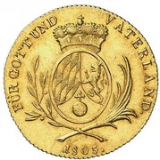 1 ducat Maximilian IV Josef – revers