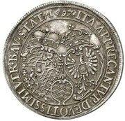 2 ducats Maximilian II Emanuel (Naissance du Prince Karl Albert; Frappe essai en argent) – avers