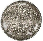 2 ducats Maximilian II Emanuel (Naissance du Prince Karl Albert; Frappe essai en argent) – revers