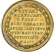 2 ducats Maximilian II Emanuel (Naissance du Prince Ferdinand Maria) – revers