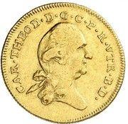 3 ducats Karl Theodor – avers