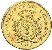 3 ducats Karl Theodor – revers