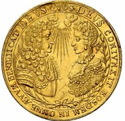 5 Ducats - Maximilian II. Emanuel (Marriage of Maximilian II. Emanuel & Maria Antonia von Österreich) – avers