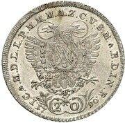 20 Kreuzer - Karl Theodor (Vikariat) – revers