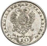 10 Kreuzer - Karl Theodor (Vikariat) – revers