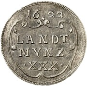 30 Kreuzer - Maximilian I (Kipper) – revers
