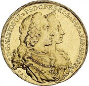 5 Ducats - Maximilian III Josef (Marriage of Maximilian III Josef and Maria Anna von Sachsen) – avers