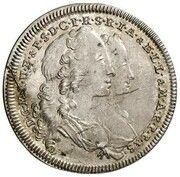 1 Ducat - Maximilian III Josef (Marriage of Maximilian III Josef and Maria Anna von Sachsen - Silver Pattern) – avers