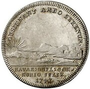 1 Ducat - Maximilian III Josef (Marriage of Maximilian III Josef and Maria Anna von Sachsen - Silver Pattern) – revers