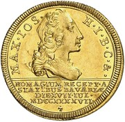 1 Ducat - Maximilian III Josef – avers