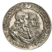 3 Ducat - Ferdinand Maria (Wedding of Ferdinand Maria and Adelheid - Silver Pattern) – avers