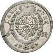 6 kreuzer Maximilian III. Josef – revers