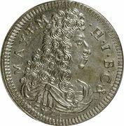 15 kreuzer Maximilian II Emanuel – avers