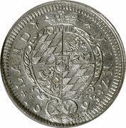 15 kreuzer Maximilian II Emanuel – revers