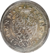 15 kreuzer - Maximilian II Emanuel – revers