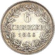 6 Kreuzer - Ludwig II -  revers