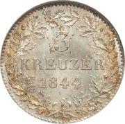 3 kreuzer - Ludwig I – revers