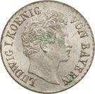 1 kreuzer Ludwig I – avers