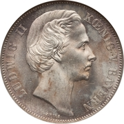 "1 thaler - Ludwig II ""Siegestaler"" -  avers"