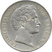 2 gulden - Ludwig I -  avers