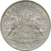 2 gulden - Ludwig I -  revers