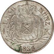 1 kreuzer Ludwig I – revers