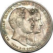 2 Thaler / 3½ Gulden - Ludwig I (Mariage) – revers