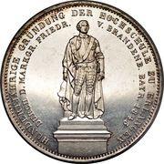 2 taler / 3½ gulden Ludwig I (Université d'Erlangen) – revers